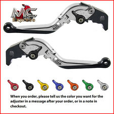 Folding Extendable Adjustable Levers Ducati 748 916 / 916SPS 1994 - 1998 Silver