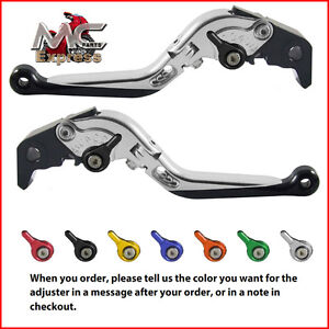 Folding Extendable Adjustable Levers BMW F800S 2006 - 2014 Silver