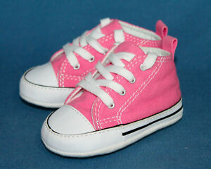 NWOB CONVERSE Infant Sz 3 All Star Chuck Taylor Pink Canvas Hi-Top Sneaker 88871