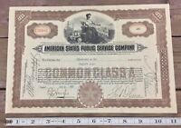 American States Public Service Company Stock Certificate New York 26 Shares 1931