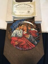 """Knowles Gone With The Wind Plate """"Scarlett And Rhett-The Finale Collector Plate"""""""