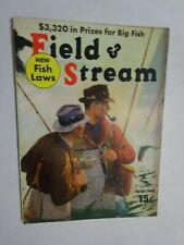 1940 FIELD & STREAM MAGAZINE April Fly Fishermen