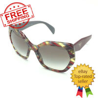 Prada SPR16R VAP-0A7 Cat Eye Burgundy Multicolor Sunglasses W/Gray Gradient Lens
