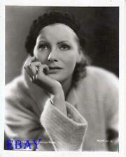 Greta Garbo rests her chin on her hand RARE Photo