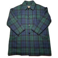 Vintage Pendleton Wool Plaid Overcoat Quilt Lined Thinsualte Jacket Size Large
