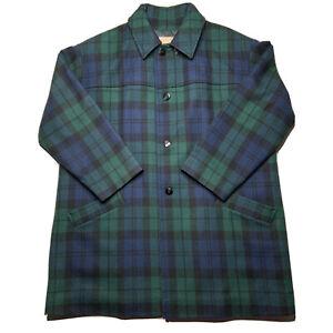 Pendleton Woolen Mills Vintage Button Up Blazer Shirt  Plaid Pattern Print  Outdoors /& Wilderness  Fall Winter  Casual Wear  Workwear