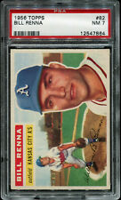 1956 Topps #82 Bill Renna PSA 7 NM Baseball Card