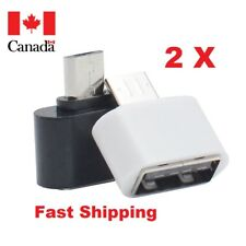 2 X OTG Micro USB Male to USB 2.0 Female Converter Adapter for Smartphone(White)