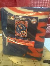 NY Mets Fleece Throw Blanket - NEW - 9/28/19 SGA Two FREE Gifts FREE Ship