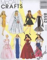 Pattern McCalls Sewing Fashion Doll Clothes Gown Collection 4 Barbie 11½