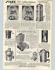 1950 PAPER AD Silex Double Pot Coffee Maker Percolator Constellation Mercury