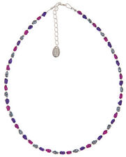 Carrie Elspeth N1236 Mini Foils Necklace - Berry - BNWT