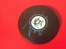 Tom Kuhnhackl  Stanley Cup Champions Penguins Signed Auto Puck Holder
