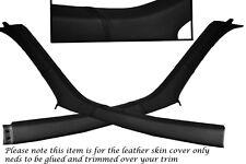 BLACK STITCH FITS NISSAN SKYLINE R33 GTS GTR 93-98 WINDSCREEN PILLAR LTHR COVERS