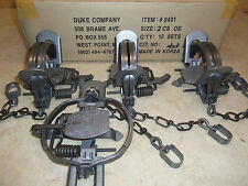 4 Duke # 2 OFFSET Coil Spring Traps  Raccoon Fox Coyote Foothold Trap 0491
