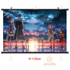 Wall Poster Anime Sword Art Online Decor HD Roll Scroll Home Gift 41×56cm #T34