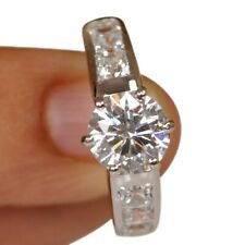 1.80 Carat Solitaire Anniversary Ring 925 Sterling Silver Brilliant Round Shape