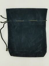 SMALL BLACK DICE/Jewelry BAG SUEDE Drawstring 5.5x6.5 Storage Pouch With String