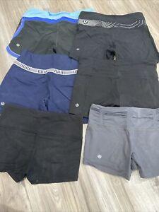 Lululemon Shorts Lot of  6 Sz 4,black /gray