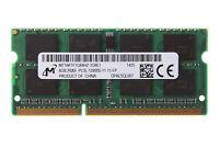 8 GB Mircon 8GB DDR3L 1600Mhz 2Rx8 PC3L-12800S 204pin SO-DIMM RAM Laptop Memory