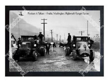 Historic Knutson & Nelson Logging Co- Grotto, Washington, Mack Truck Postcard 3