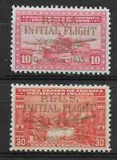 PHILIPPINES , USA , 1935 , AIR MAIL , SET OF 2 STAMPS O.P. IN GOLD ,  PERF , MNH