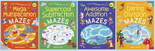 Early Learning Age 4+ KS1 Fantastic Finger Trace Mazes 4 Book Collection Set