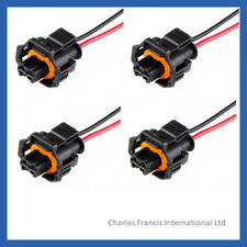 PEUGEOT PARTNER 1.6 HDi - BOSCH 2 PIN DIESEL INJECTOR CONNECTOR PLUG PIGTAIL x 4