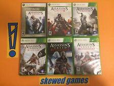 Assassins Creed II III 2 3 Brotherhood Revelations Black Flag Lot - XBox 360