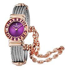 Charriol Women's St Tropez Purple Dial Steel Diamond Quartz Watch 028PCD3540566