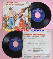 LP 45 7'' MARIO MOLINARI La nostra terra L'amore dei bersaglieri italy cd mc dvd