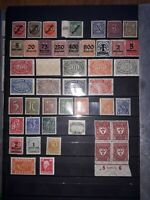 (P) German Empire/Weimar Republic to 1932 in MNH. Tested w/many Premium Values.