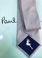 Paul Smith Krawatte 8cm Lady Made in Italy Seide 100% Original hellgrau