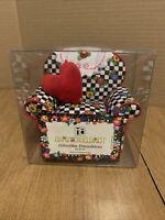 Mary Engelbreit Pin Cushion Chair Checks Flowers Heart Pillow Hidden Storage