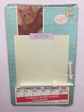 Vintage Whiteboard Memo Reminder Dry Erase Board Lynn Hollyn Town & Country Cats
