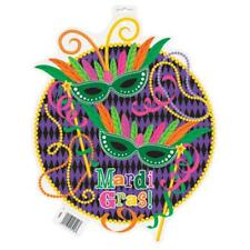 "Mardi Gras! Party 16.5"" Cut Out Decoration Decor Double Sided"