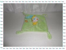S - Doudou Semi Plat Carré Ours Clown Vert Etoile  Tigex