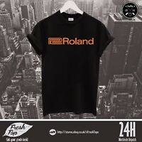 Roland Logo T Shirt Top Electronic Musical Instrument Keyboards Synthesizers