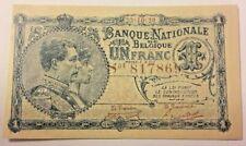 ==>> 1 Franc, 1920 1 Frank Biljet, België Belgique Belgium Zeldzaam Cut <<===