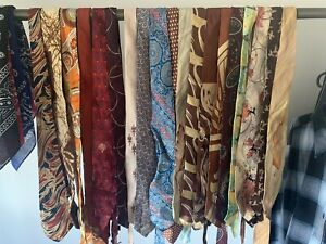 Vintage Ties Assorted 1950s To 1970 19 In One Lot