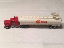 1980 Hot Wheels Steering Rigs Shell Fuel Tanker Peterbilt Tractor Trailer Set