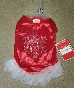 Puppy Apparel Red Dress Pet Dog Lovely Skirt Christmas Party Clothes NWT SMALL
