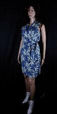 100% Seide Kostüm Wickelrock+Bluse 2PC Silk Skirt Suit Blau Tommy Bahama  Gr S