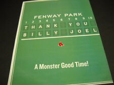 Billy Joel at Fenway Park in Boston 2015 Promo Poster Ad another Monster.Time