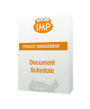 Document Schedule - Excel template For Document Management Quality Assurance
