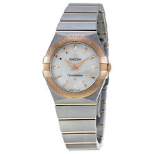 Omega Constellation Mother Of Pearl Dial Gold and Steel Ladies Watch