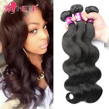 """Brazilian Body Wave Remy Human Hair 3 Bundles 300g Unprocessed Black 12"""" 14"""" 16"""""""
