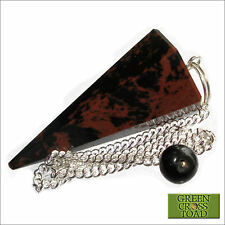 Mahogany Obsidian Volcanic Glass Crystal Point Healing Dowsing Pendulum