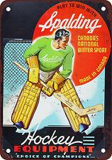 "7"" x 10"" Metal Sign - 1940 Spalding Hockey Equipment - Vintage Look Reproduction"