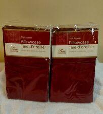 2  Pillowcases Burgundy New